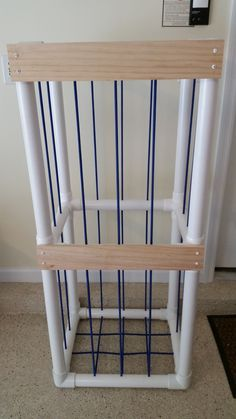 Stuffed Animal Cage made from PVC pipe and bungee cord