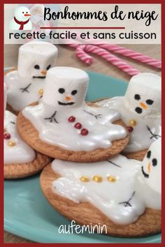 Footage - The recipe of the snowman shortbread melted - Navidad - noel Shortbread, Cookie Recipes, Snack Recipes, Melted Snowman, Cinnamon Cream Cheeses, Christmas Cooking, Christmas Recipes, Pumpkin Spice Cupcakes, Healthy Snacks For Kids