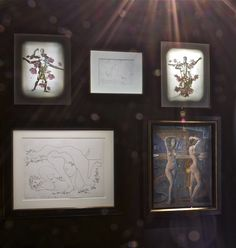 Thomas Lerooy - Me in you, You in me - 2010; Pablo Picasso - Peintre et modèle II - 1970; André Masson - Faune - 1955; Armando Morales - Dos desnudos gimnasio - 2002