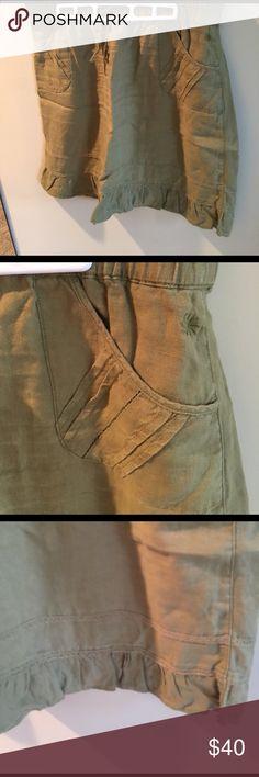 Athleta Linen skirt Olive green linen skirt Athleta Skirts Midi