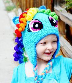 Rainbow dash hat High quality hat Pinkie Pie by CuteLittleAgels