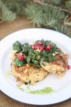 Wildly Mushroom Risotto Cakes by The Ramblin' Rose for Sycamore Street Press