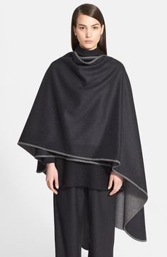 eskandar Two-Tone Wool & Cashmere Cape available at #Nordstrom