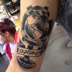 world travel » @joeellistattooer #tattoo