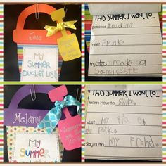 transitional kindergarten   Transitional Kindergarten Ideas / summer bucket list-- cute idea
