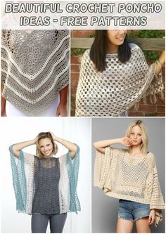 New Crochet Knit Poncho Ideas Ideas Crochet Poncho, Crochet Scarves, Easy Crochet, Free Crochet, Diy Crochet Curtains, Hairpin Lace Crochet, Tunisian Crochet, Irish Crochet, Crochet Baby Cocoon