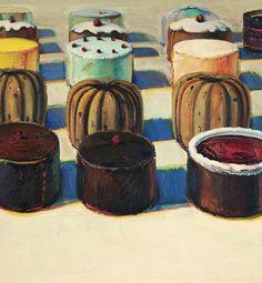 Wayne Thiebaud, Various Cakes, 1981