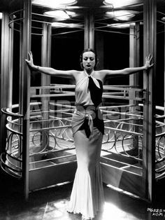 """Joan Crawford. """"Letty Lynton"""" 1932, Directed by Clarence Brown. Custome by Adrian People Photographic Print - 23 x 30 cm"""