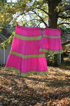 Custom Listing for Charlotte: Mother Daughter Matching Clothing, Custom Order Mommy and Me Skirts, Mother and Daughter Skirts. $65.00, via Etsy.