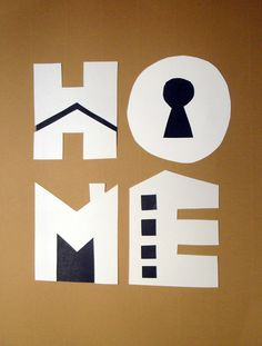 Love the paper cut — and the icons it creates showing all the different aspects of a home—especially the building. The E feels very apartment like...