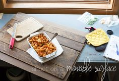 Time Saving Tips for Food Photography - Shoot on a movable surface