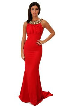 68b3308988f68 Pia Michi 1331 Jersey Gown as worn by Lucy Mecklenburgh Red