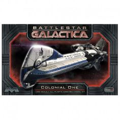Battlestar Galactica Colonial One -  $38.95  1/350 scale plastic model kit from Battlestar Galactica of the Presidential Transport. Screen-accurate detailed kit with instructions, decals and display base.  #scalemodel #modeler #modelkit #modelcar #modelship #modelspaceship #modelcharacter #modelairplane