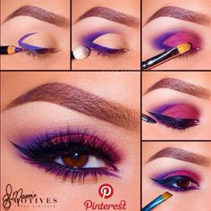 Ideas for eye makeup art eyeliner purple Eye Makeup Steps, Eye Makeup Art, Makeup Inspo, Makeup Inspiration, Makeup Tips, Makeup Meme, Beauty Makeup, Makeup Ideas, Makeup Tutorials