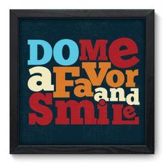 Quadro Decorativo - Smile - 015qdr