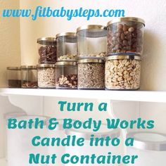 How to Turn a Bath and Body Works Candle Into a Nut Container
