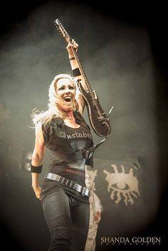 Heavy Metal Girl, Heavy Rock, Heavy Metal Music, Guitar Girl, Cool Guitar, Female Guitarist, Female Singers, Bass, Nita Strauss