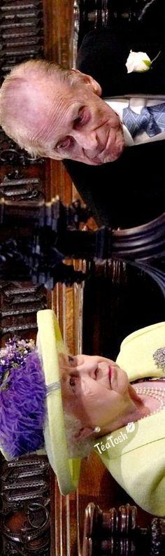 ❈Téa Tosh❈ The Queen Elizabeth & Prince Philip at the ceremony. #royalwedding #teatosh