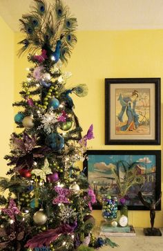 Peacock Christmas Tree - Maggie Overby