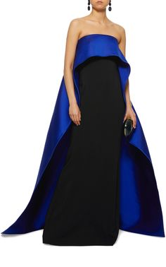 Shop for Elizabeth Kennedy Color Block Strapless Column Gown at ShopStyle. Formal Gowns, Strapless Dress Formal, Formal Wear, Colorblock Dress, Couture Dresses, Satin Dresses, Beautiful Gowns, Playing Dress Up, Ball Gowns