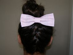 Pink Checkered Hair Bow by LittleBowElise