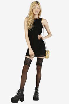 Mesh With Me Mini Dress