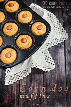corn dog muffins - muffins cu crenvursti