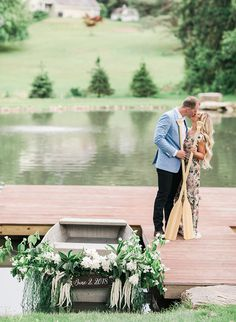 This couple's dockside engagement photos take place at the bride's family estate that just so happens to look like a scene straight out of The Notebook. Engagement Announcement Photos, Engagement Inspiration, Couple Pictures, Engagement Shoots, Daily Fashion, Cute Couples, Notebook, Romantic, Poses