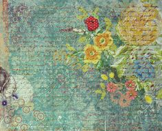 K & Company 12 x 12 Botanical Floral Print Flat Scrapbook Paper is available at Scrapbookfare.