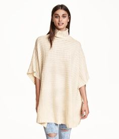 Cable-knit poncho   Product Detail   H&M