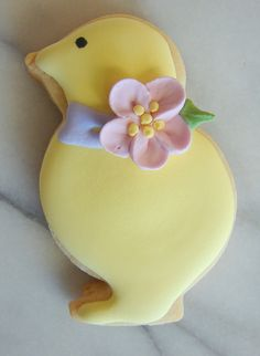 Spring or Easter cookie idea: sweet duck cookie
