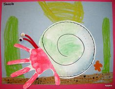 Handprint Hermit Crab by Tippytoe Crafts