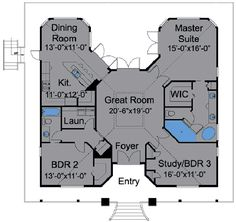 1000 ideas about bungalow floor plans on pinterest for Www houseplans com
