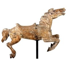 Carousel Horse, circa 1912 | From a unique collection of antique and modern carnival art at https://www.1stdibs.com/furniture/folk-art/carnival-art/