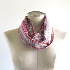 Multicolor Paisley Infinity Scarf  Paisley Scarf  by EyeCandy395, $20.00