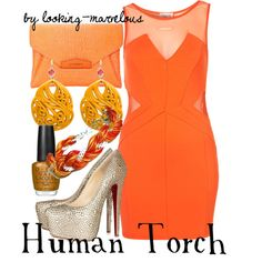 """""""human torch"""" by marvel-ous on Polyvore"""