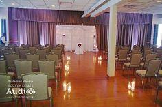 A lovely altar, all set up for a wedding at Villa Olivia. http://www.discjockey.org/villa-olivia/