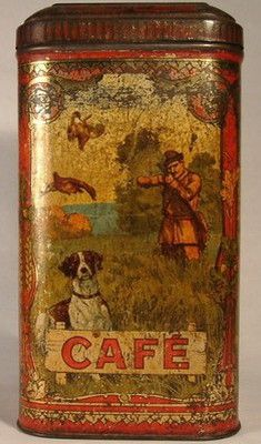 French Coffee tin Vintage Tins, Vintage Coffee, French Coffee, Coffee Tin, Coffee Cafe, Tin Man, Tin Containers, Tea Tins, Antique Boxes