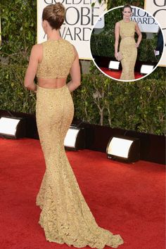 The best red carpet dresses from the back: Emily Blunt in Pamella Roland at the 2009 Screen Actors Guild Awards.