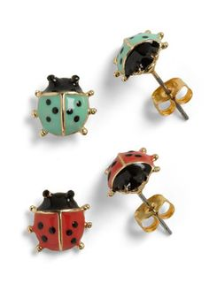 Lord and Ladybug Earrings - I need these in my life!