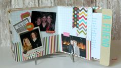 diy altered book ideas | loved how I could hide my journaling for each aspect of my life in ...