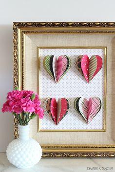 DIY 3D Heart Art