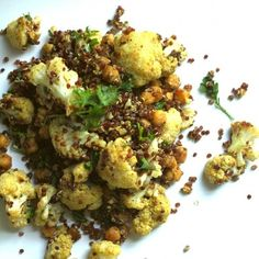 Roasted Cauliflower Quinoa HealthyAperture.com