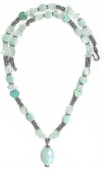 Aquamarine and Amazonite Necklace
