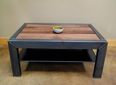 Industrial Hand crafted Coffee Table ( could be a Dinning Table you choose ) to ANY size the customer desirers. Welded Furniture, Industrial Design Furniture, Iron Furniture, Steel Furniture, Pallet Furniture, Furniture Projects, Rustic Furniture, Home Furniture, Furniture Market