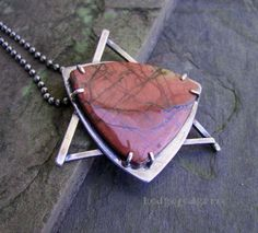 MAGEN DAVID  Creek Jasper and Sterling Silver by hodgepodgerie2, $195.00