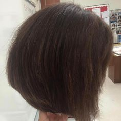 Little Throw Back To One Of My First Haircuts On My Manikin Last Year, A  Wedged Bob Using A 45 Degree Angle Followed By A Quick Blow Out #haircuts  ...