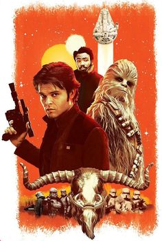 Han Solo - A Star Wars Story such a fun movie! I'm loving all of the new Star Wars movies so far. Star Wars Poster, Star Wars Art, Star Trek, Han Solo And Chewbacca, Stormtrooper, Star Wars Canon, Ron Howard, Fiction Movies, Cinema