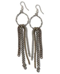 SoulFlower-NEW! Metallic Fringe Earrings-$14.00 #liviniseasy @Soul Flower  liviniseasy @Soul Flower