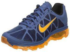 Nike Air Max 2011 Mens 684530-402 Blue Legend Citrus Running Shoes Size 10
